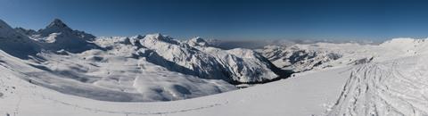 Ski resort Les Contanimes, France.