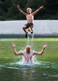 Having fun in the river, Gorges de l'Ardeche