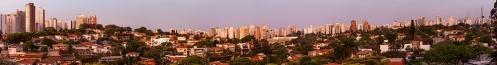 Sao Paulo, Brazil, in the Evening.